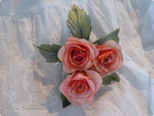 """Брошь"""" Букетик чайных роз"""" фото 1"""