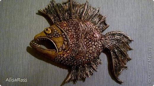 Вот такая рыбина слепилась.