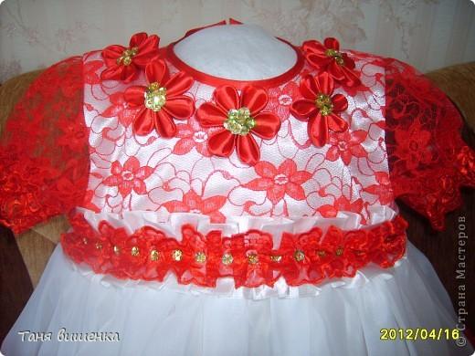 вот такое платье я сшила в подарок на день рождения,шила без примерок по размерам которые мне дали родители. фото 2