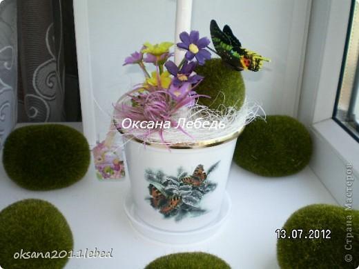 Ну, вот и снова я!!!! На этот раз совсем свеженькие работы, топиарии  в деревенском таком стиле с полевыми цветочками!!!! Итак начнем)))))))) фото 10