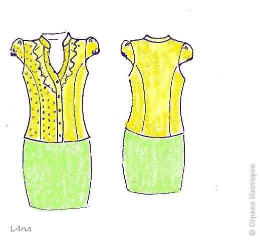 Летний комплект, блузка с юбкой... часть 1. юбка фото 2