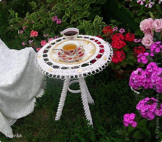 Садовый чайный столик. фото 4