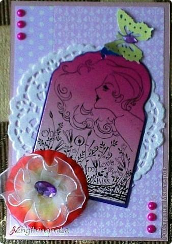 Обложка для паспорта сделана по скетчу предложеному челендж-блоком В плену идей. http://vplenuidei.blogspot.com/2012/06/1_24.html#more. и пропустила сроки. Показать очень хочется-смотрите. Дырокольные бабочки украшенные акриловыми камешками и полубусинами.  фото 4