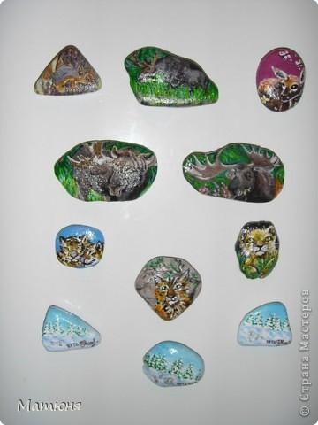 Четласский мишка - миниатюра на камне (сланец, размер 12х9 см) фото 13