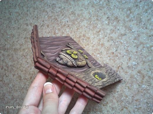очень понравилась ключница у Татьяны Бушмановой http://stranamasterov.ru/node/342931 и я решила сделать такую же=) осталось покрыть лаком и прицепить крючки=) фото 2