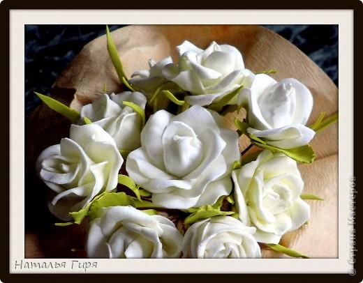 Розы из фоамирана для украшения прически