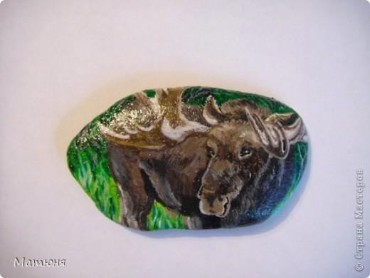 Четласский мишка - миниатюра на камне (сланец, размер 12х9 см) фото 4