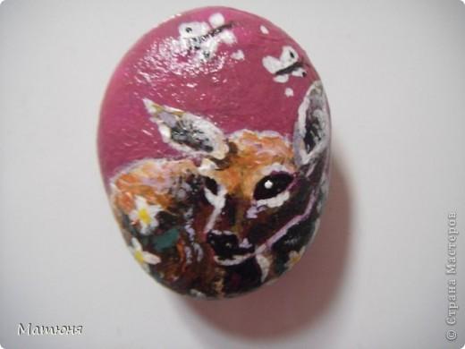 Четласский мишка - миниатюра на камне (сланец, размер 12х9 см) фото 11