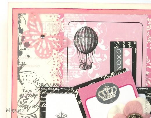 Мне настолько понравился французский стиль,что я решила сделать еще одну открытку. фото 2