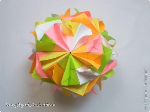 попали мне под руку вот эти цветные бумажки и я вспомнила о Brightly кусудаме от Kiyoko Ito фото 2