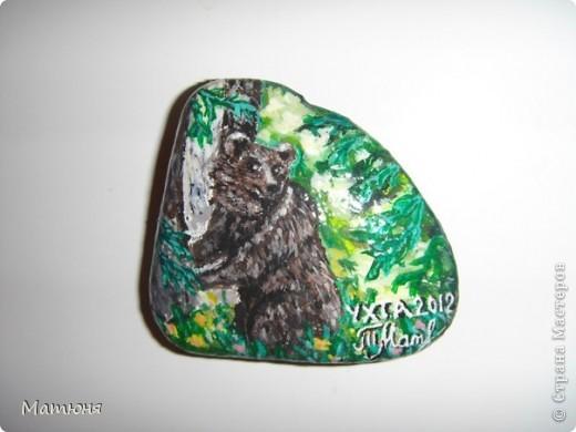 Четласский мишка - миниатюра на камне (сланец, размер 12х9 см) фото 7
