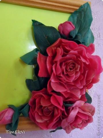 Рамочка с псевдо пионами))) фото 2