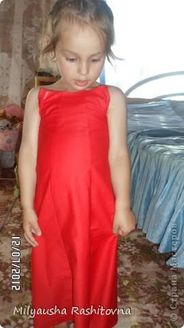 Дочка давно просила сшить ей платье в пол. Вот и сшилось такое.  Теперь осталось ждать праздника. фото 5