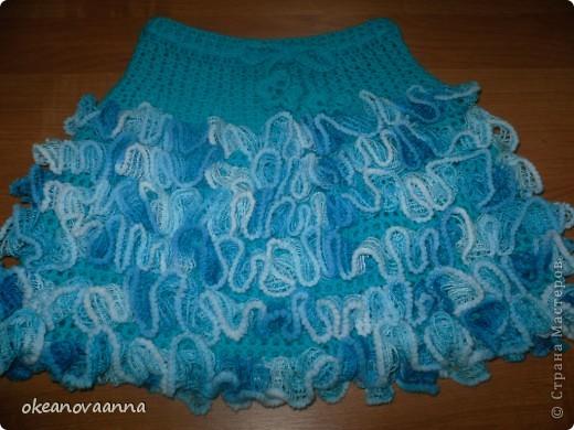 юбка крючком для девочки из ленточной пряжи болеро вязанка
