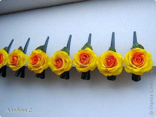 Розы на неведимках.Заказали на свадьбу для украшения волос девочек.Вот что получилось. фото 5