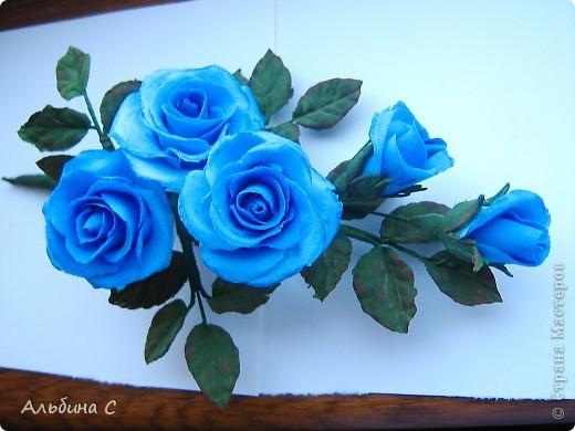 Розы на неведимках.Заказали на свадьбу для украшения волос девочек.Вот что получилось. фото 6