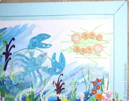 Ко Дню Рождения мальчика, рождённого 18 июля, его мама попросила меня выполнить панно на зодиакальную темматику. Делать просто рачка мальчику, на мой взгляд, совершенно не интересно, поэтому поместила рака на дно аквариума. фото 9