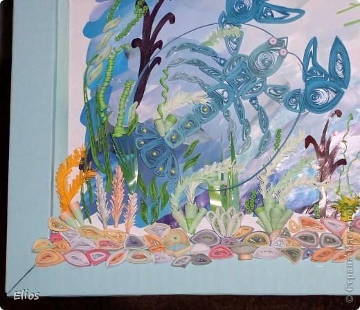 Ко Дню Рождения мальчика, рождённого 18 июля, его мама попросила меня выполнить панно на зодиакальную темматику. Делать просто рачка мальчику, на мой взгляд, совершенно не интересно, поэтому поместила рака на дно аквариума. фото 10