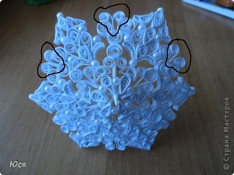 Зонтик в технике Квиллинга и платье для медведицы. фото 14
