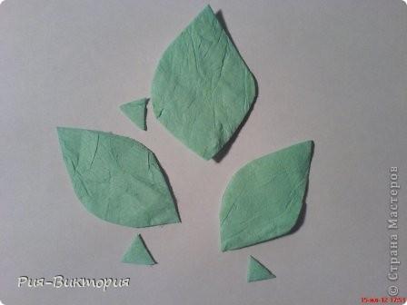 """Решила показать как, я делаю листики для своих """"сладких"""" розочек, Может кому пригодится. фото 13"""
