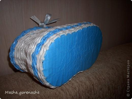 Всем здравствуйте! Появился голубой колер, вот и наплелось :)) фото 3