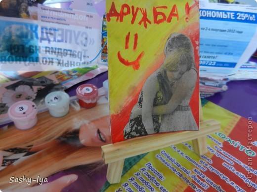 """Мы с моей подругой Настей(Nasty-sa)решили продолжить так сказать пополнить коллекцию карточек АТСпод названием """"Дружба"""". Это №1 фото 4"""