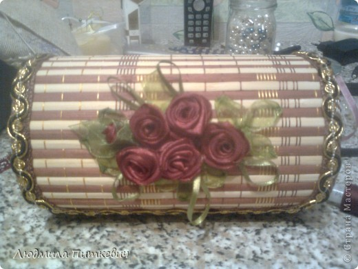Шкатулка из бамбуковой салфетки фото 2