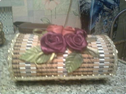Шкатулка из бамбуковой салфетки 2 фото 1