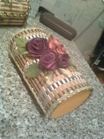 Шкатулка из бамбуковой салфетки 2 фото 3