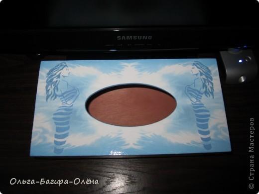 На День Рождение моему косметологу. Просто стояла одноразовая коробка с салфетками, ну не смогла я на это спокойно смотреть.... Уточнила расцветку и начала ломать голову....... фото 1