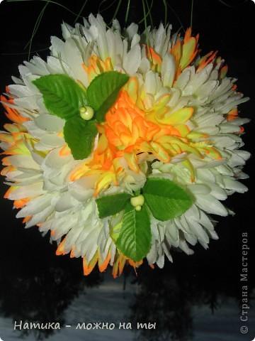 Мой первый топиарий из искусственных цветов)))  Помоему, получился))) фото 3