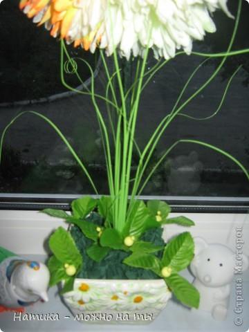 Мой первый топиарий из искусственных цветов)))  Помоему, получился))) фото 4