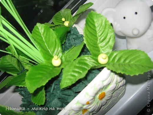 Мой первый топиарий из искусственных цветов)))  Помоему, получился))) фото 5