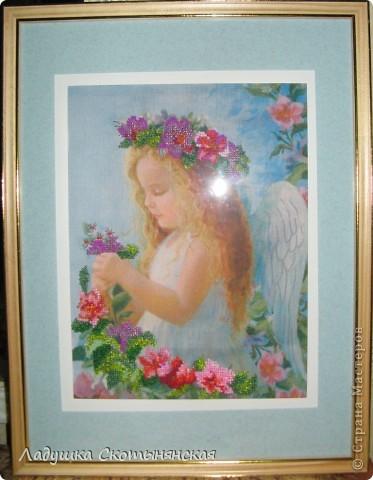 Картина панно рисунок Вышивка Вышивка крестом Частичная вышивка бисером Бисер Канва Нитки фото 3.