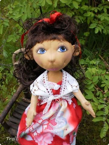 """Текстилные куклы-так сказат """"первая проба пера"""" фото 38"""