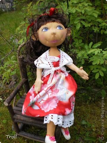 """Текстилные куклы-так сказат """"первая проба пера"""" фото 46"""