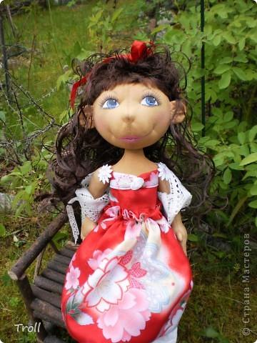 """Текстилные куклы-так сказат """"первая проба пера"""" фото 39"""