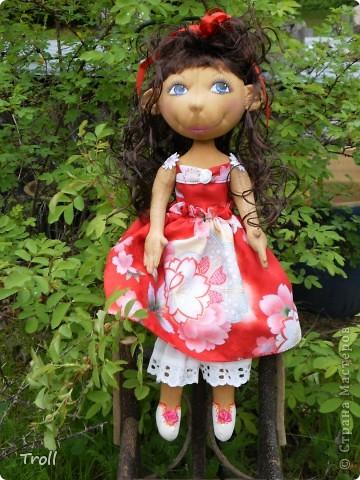 """Текстилные куклы-так сказат """"первая проба пера"""" фото 41"""