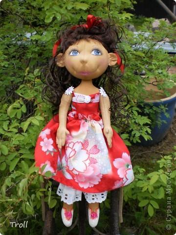 """Текстилные куклы-так сказат """"первая проба пера"""" фото 45"""