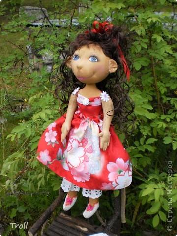 """Текстилные куклы-так сказат """"первая проба пера"""" фото 47"""