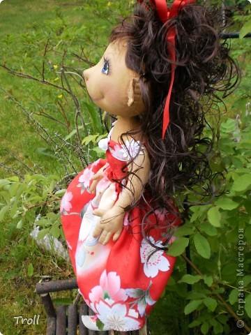 """Текстилные куклы-так сказат """"первая проба пера"""" фото 44"""