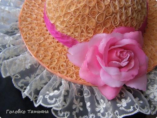 Вот и сбылась давняя мечта- сделать свою неповторимую шляпку.( квиллинг и папье-моше) фото 3