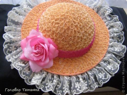 Вот и сбылась давняя мечта- сделать свою неповторимую шляпку.( квиллинг и папье-моше) фото 1