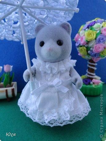 Зонтик в технике Квиллинга и платье для медведицы. фото 18