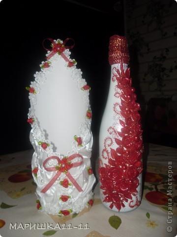 Здравствуйте мастерицы!!!!! Вот моя бутылочка в подарок!!!! фото 3