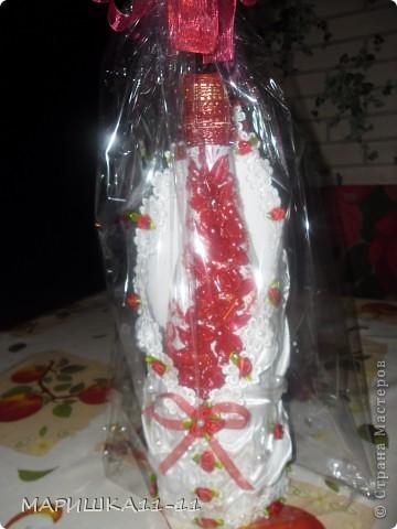 Здравствуйте мастерицы!!!!! Вот моя бутылочка в подарок!!!! фото 4