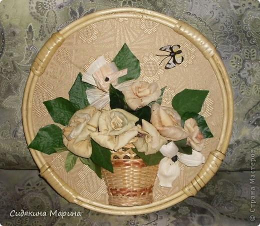 Цветы из кукурузных листьев. фото 1