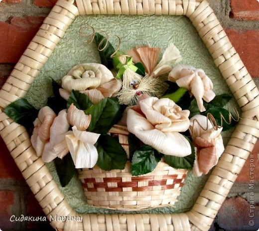 Цветы из кукурузных листьев мастер класс