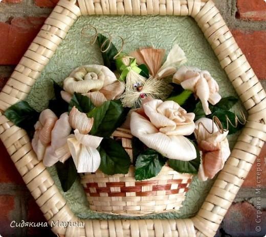 Цветы из кукурузных листьев. фото 2