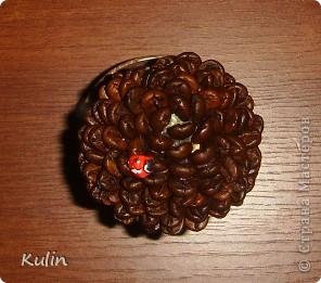 Цветок-лилипут из монет ,высота 12 см фото 9